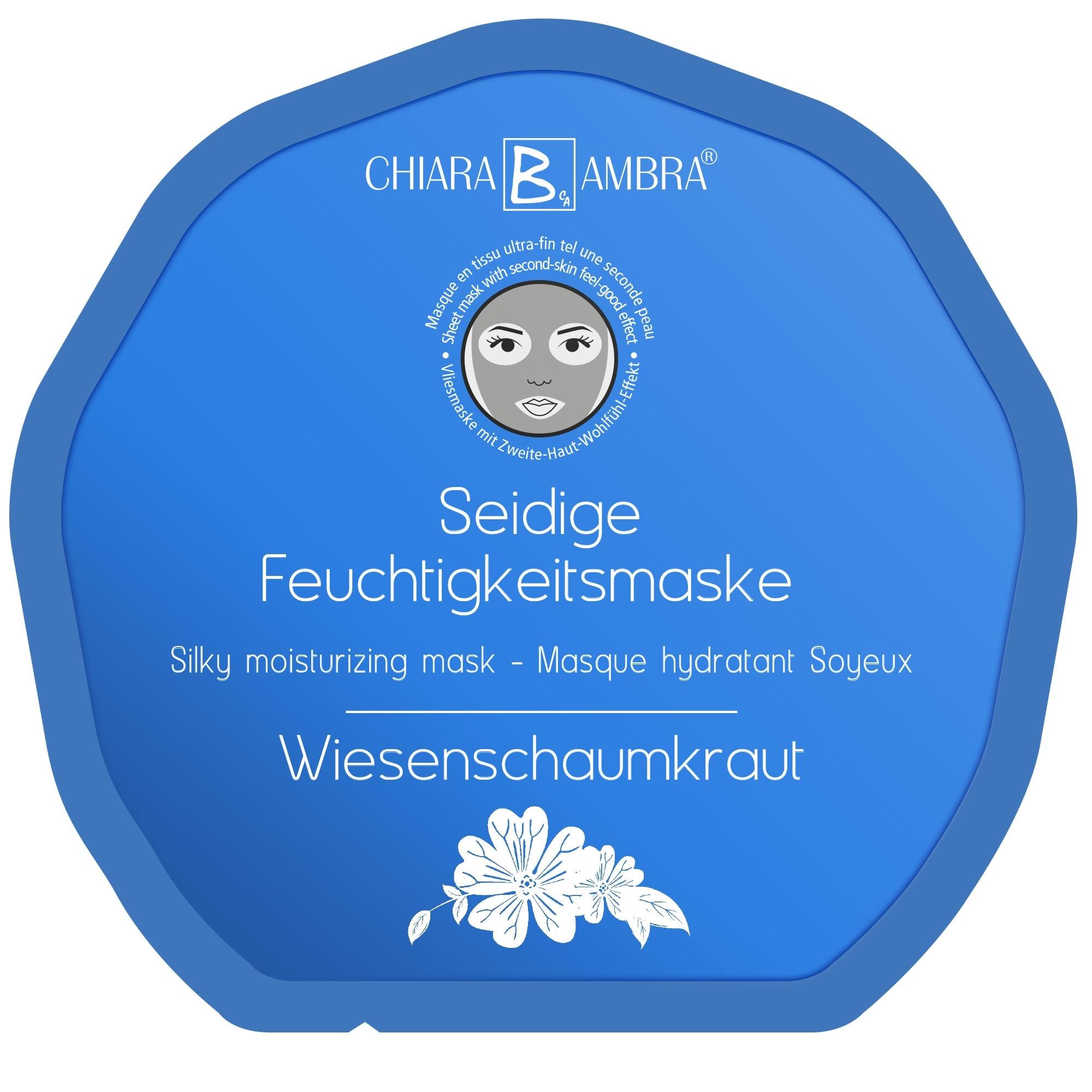 CHIARA AMBRA Gesichts-Vliesmasken Vlies Gesichtsmaske Wiesenschaumkraut 1 Stck. 100036842