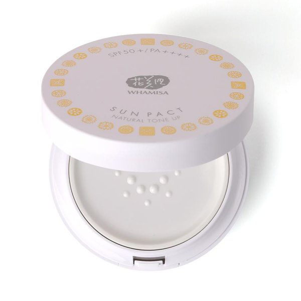 Organic Flowers Sun Pact - Natural Tone Up SPF 50